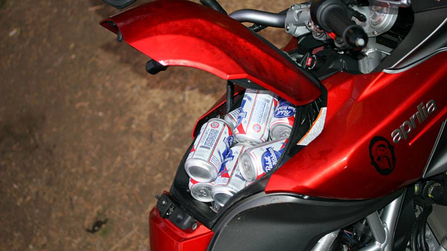 The 850cc v-twin Italian beer cooler