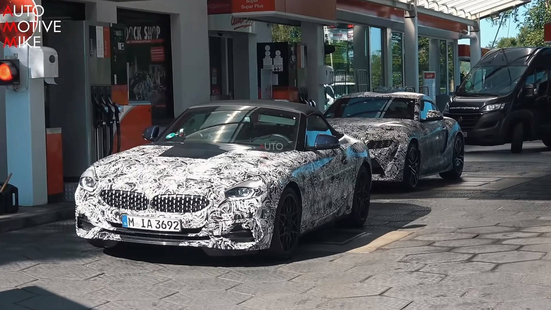 Watch Bmw Z4 And Toyota Supra Test Together At The Nurburgring