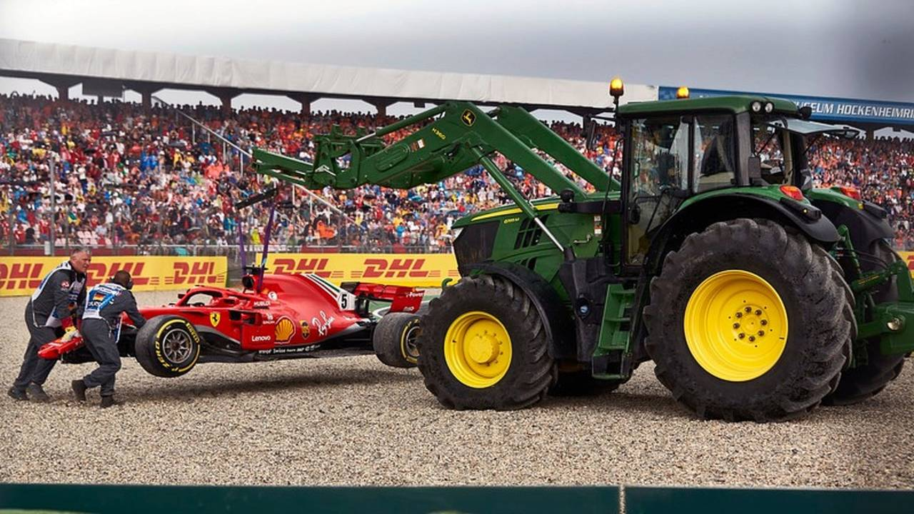 El accidente de Sebastian Vettel en el GP de Alemania