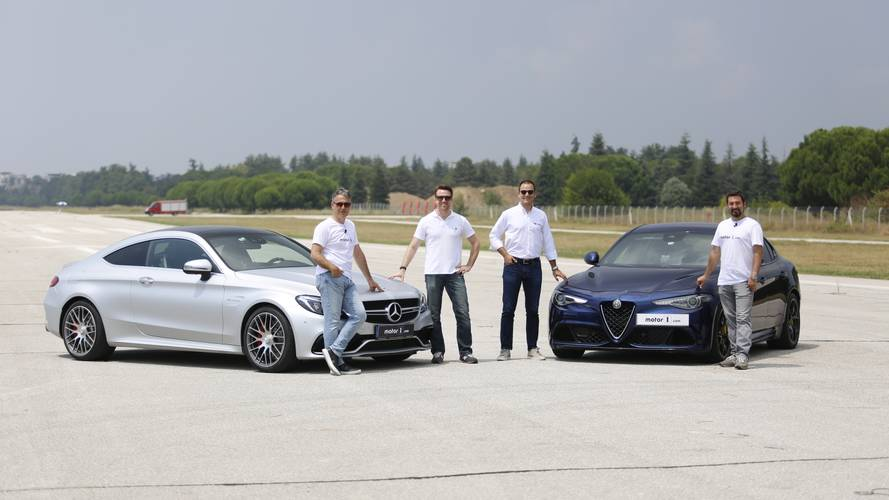 Drag Race: Mercedes-AMG C 63 S Coupe vs. Alfa Romeo Giulia QV