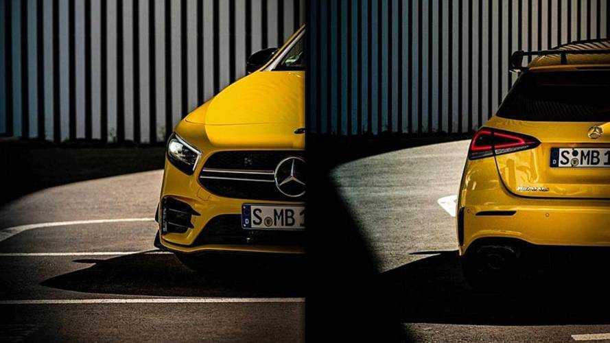 Mercedes-AMG A 35, un alettone che promette bene