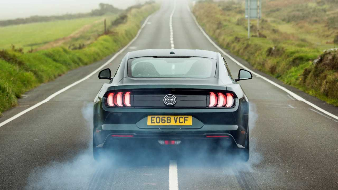 Ford Mustang Bullitt at the Isle of Man