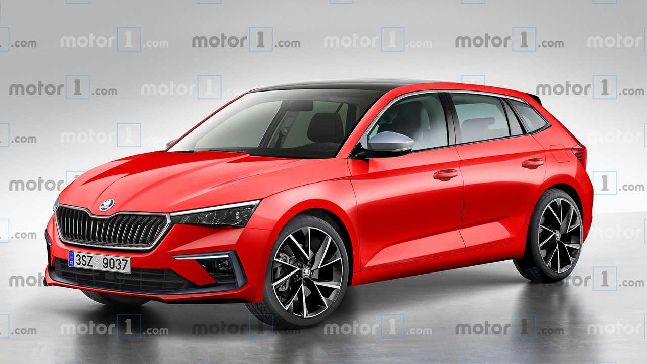 Sibling Rivalry Skoda Scala Rendered To Take On The Vw Golf