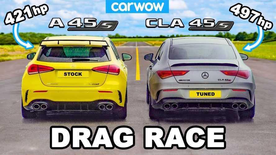Mercedes-AMG A45 S Drag Races CLA 45 S With ECU Tune
