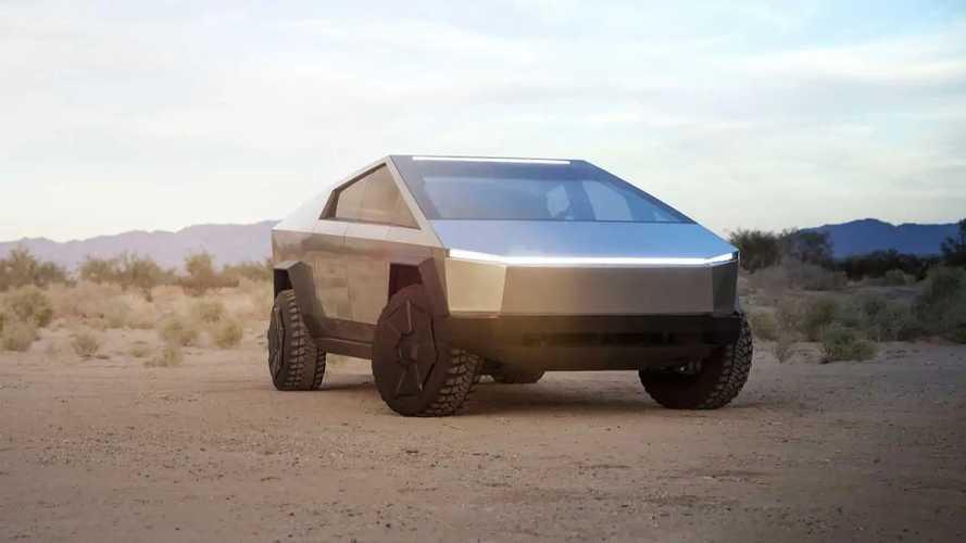 Tesla Cybertruck Testing With Side Mirrors & 'Rear-Wheel Steering'