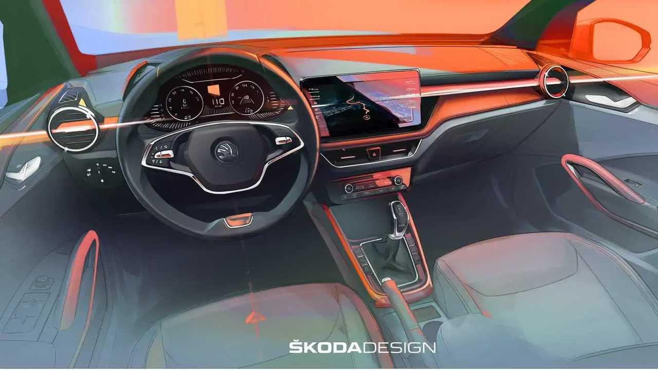Teaser intérieur Škoda Fabia