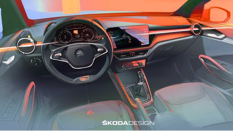 2021 Skoda Fabia Interior Previewed In Revealing Design Sketch