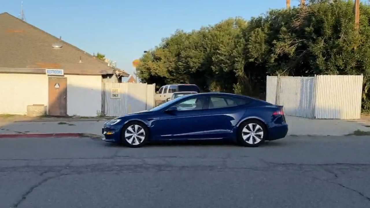 Refreshed Tesla Model S (source: reddit.com/r/teslamotors/comments/mahewa/new_model_s_take_off_video_see_previous_post_as/)