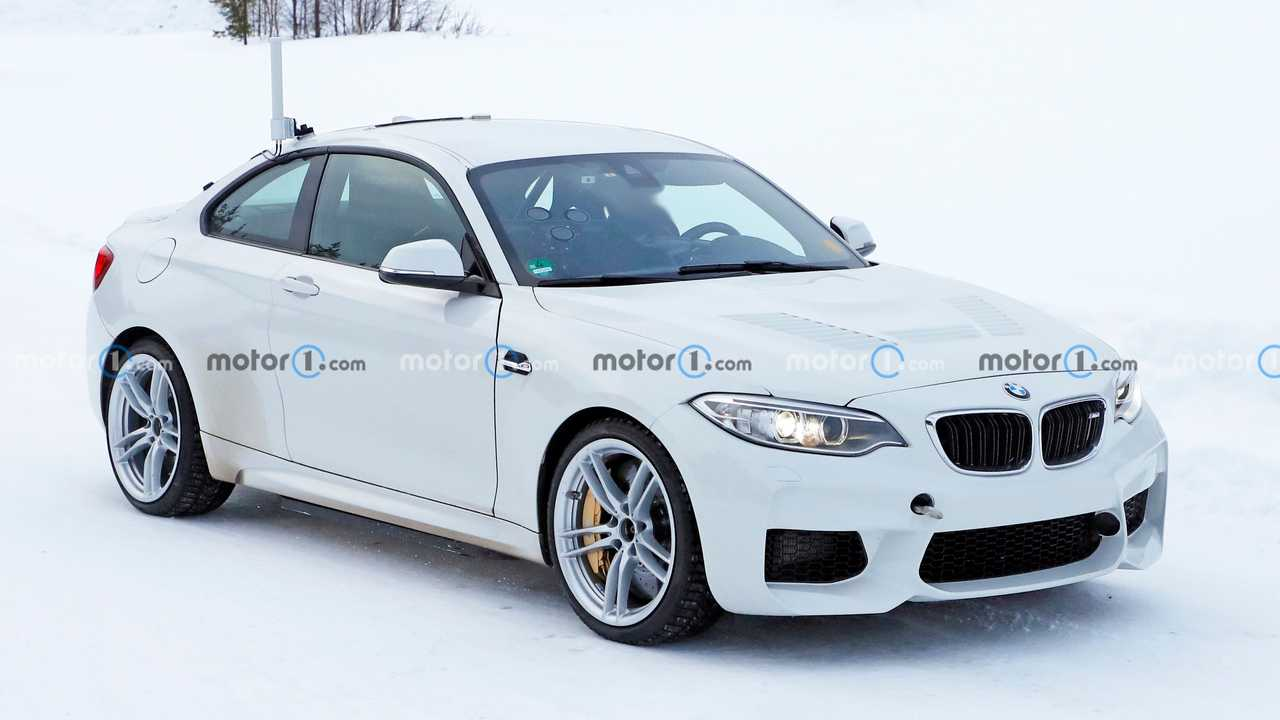 BMW M2 electric test mule spy photo