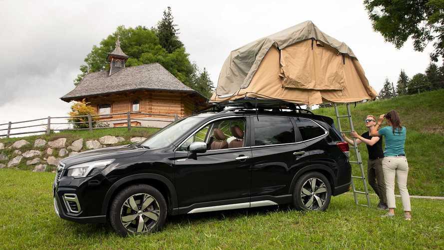 Subaru Forester (2021) mit Dachzelt: Boxer mit Bett