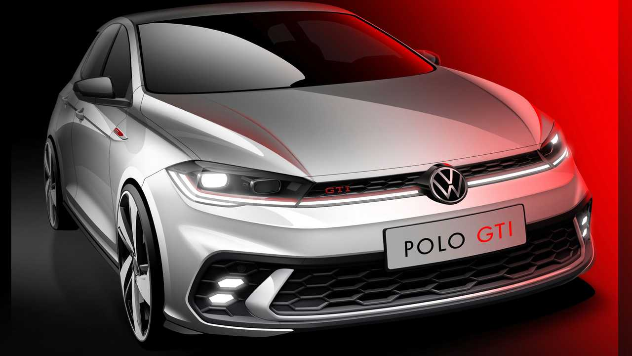 Volkswagen показал первый эскиз обновленного Polo GTI