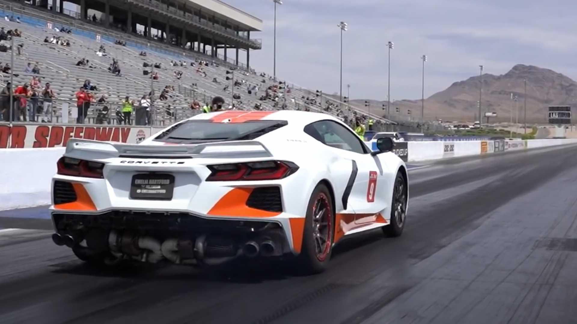 Watch Quarter-Mile Run That Got World's Fastest Corvette C8 Booted