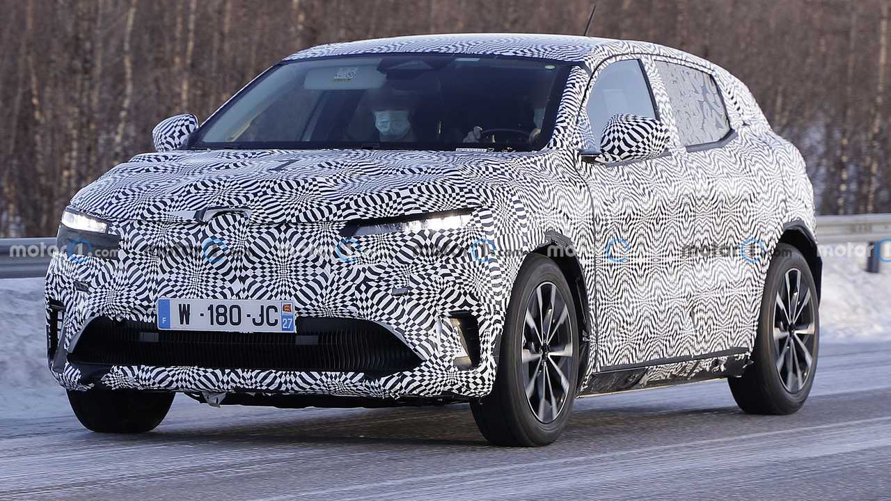 The Renault Megane EV is spied for the first time.