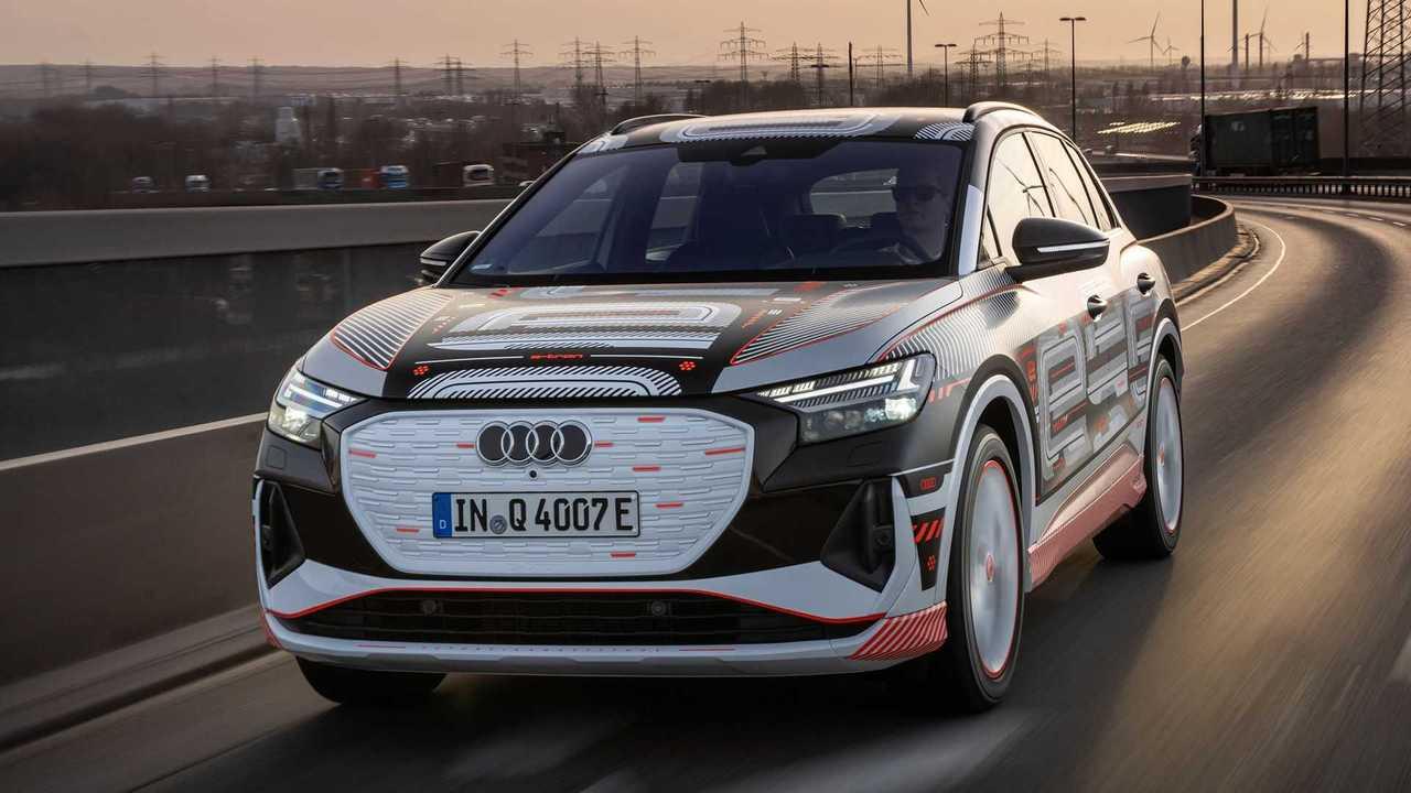 Der Audi Q4 e-tron zeigt sich offiziell als seriennaher Prototyp