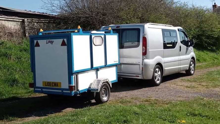 UK: Towing an extendable bathroom like this could be godsend for van lifers