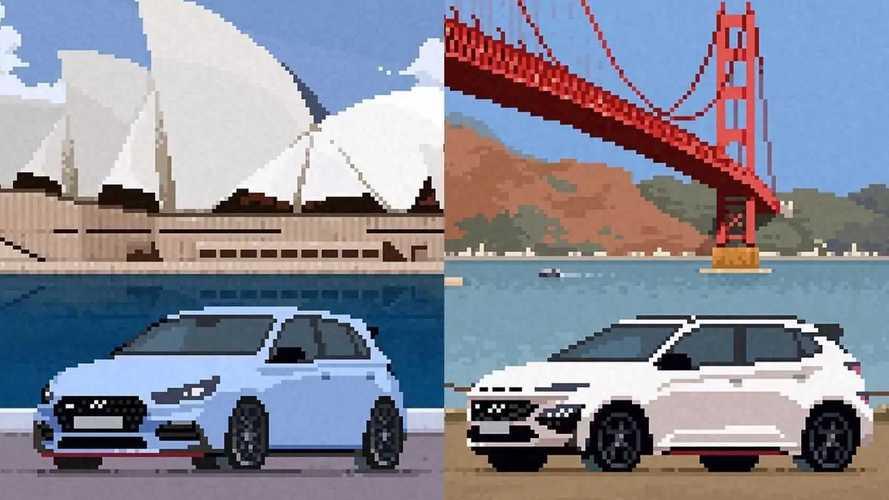 Hyundai N Cars Transformed Into Adorable Pixel Art