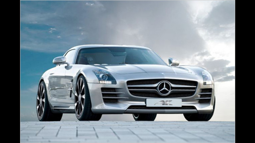 Filigranarbeit: Mercedes SLS von AK-Car-Design