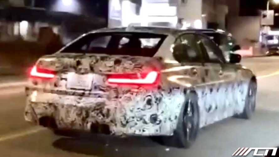 2021 BMW M3 saloon spied up close in California