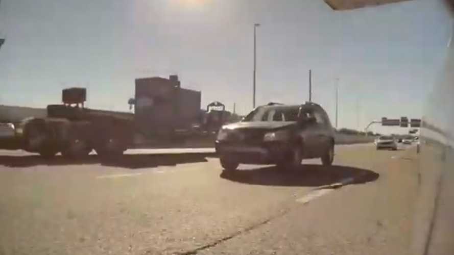 A Perfectly Avoidable Crash Is Show By These TeslaCam Videos