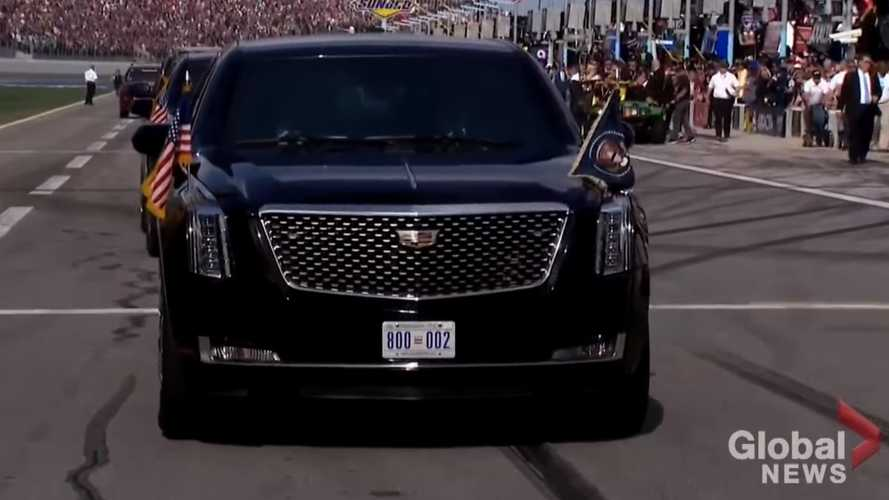 Watch The 'Beast' Presidential Limo Lap The Daytona 500