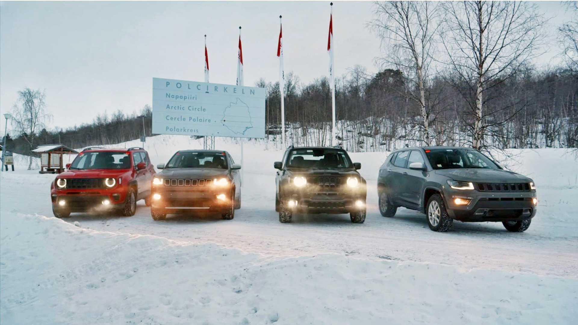 Vídeo: Jeep Renegade e Compass híbridos em teste de 3.800 km na neve