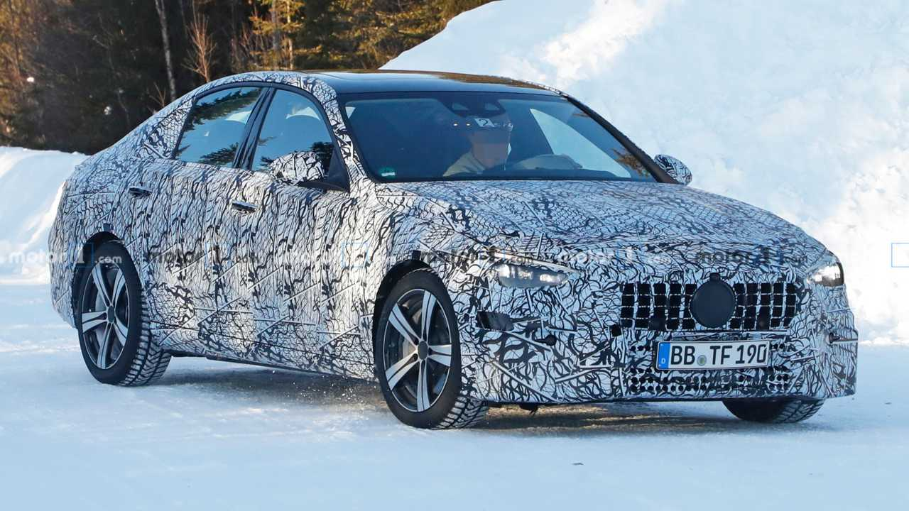 Next Mercedes-AMG C-Class Sedan Caught For The First Time