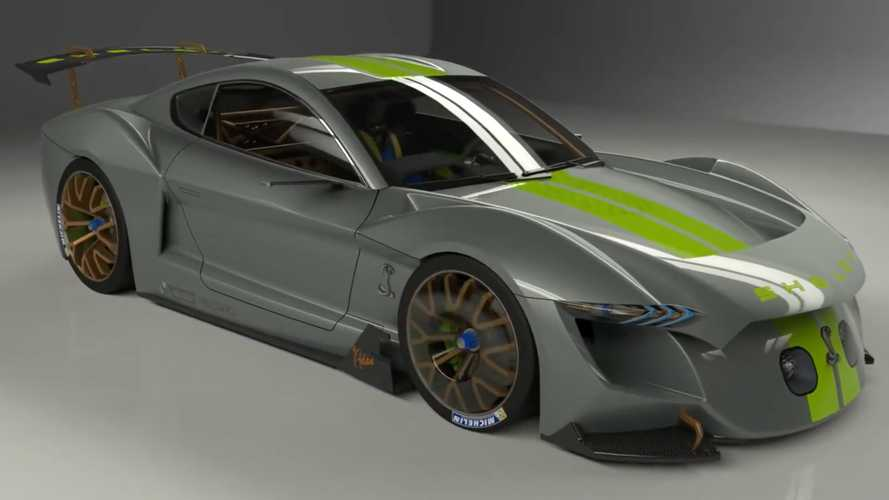 Electric Ford Mustang Shelby Rendering Reveals Radical Racer