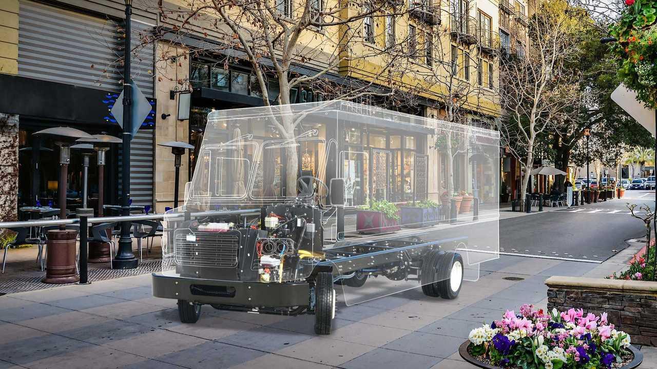 A walk-in van powered by FCCC