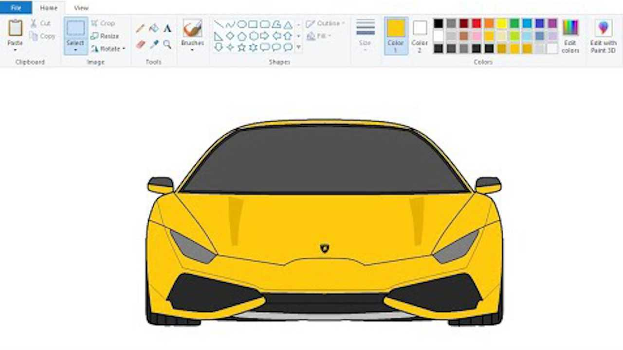 This Guy Draws Cars In Microsoft Paint And They're Pretty Great