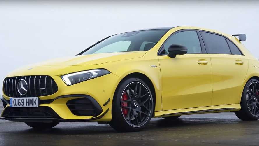 See AMG A45 S drag race Golf R, RS3, M2