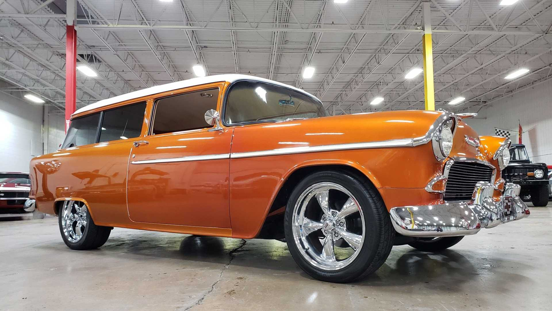 "[""Own This LS-Powered 1955 Chevy 210 Handyman Wagon Restomod""]"