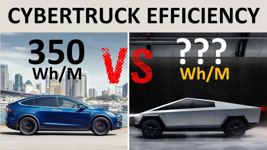 Tesla Cybertruck Efficiency & Battery Pack Size Compared To Model X