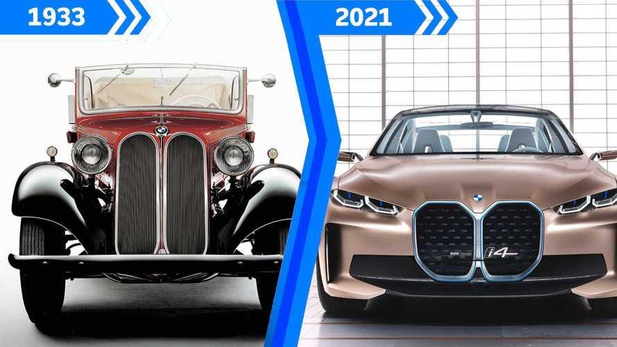 Die Entwicklung der BMW-Niere von 1933 bis heute