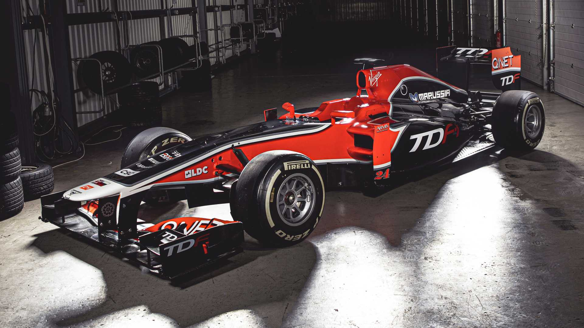 Show up to a trackday in an old Sauber or Virgin F1 car
