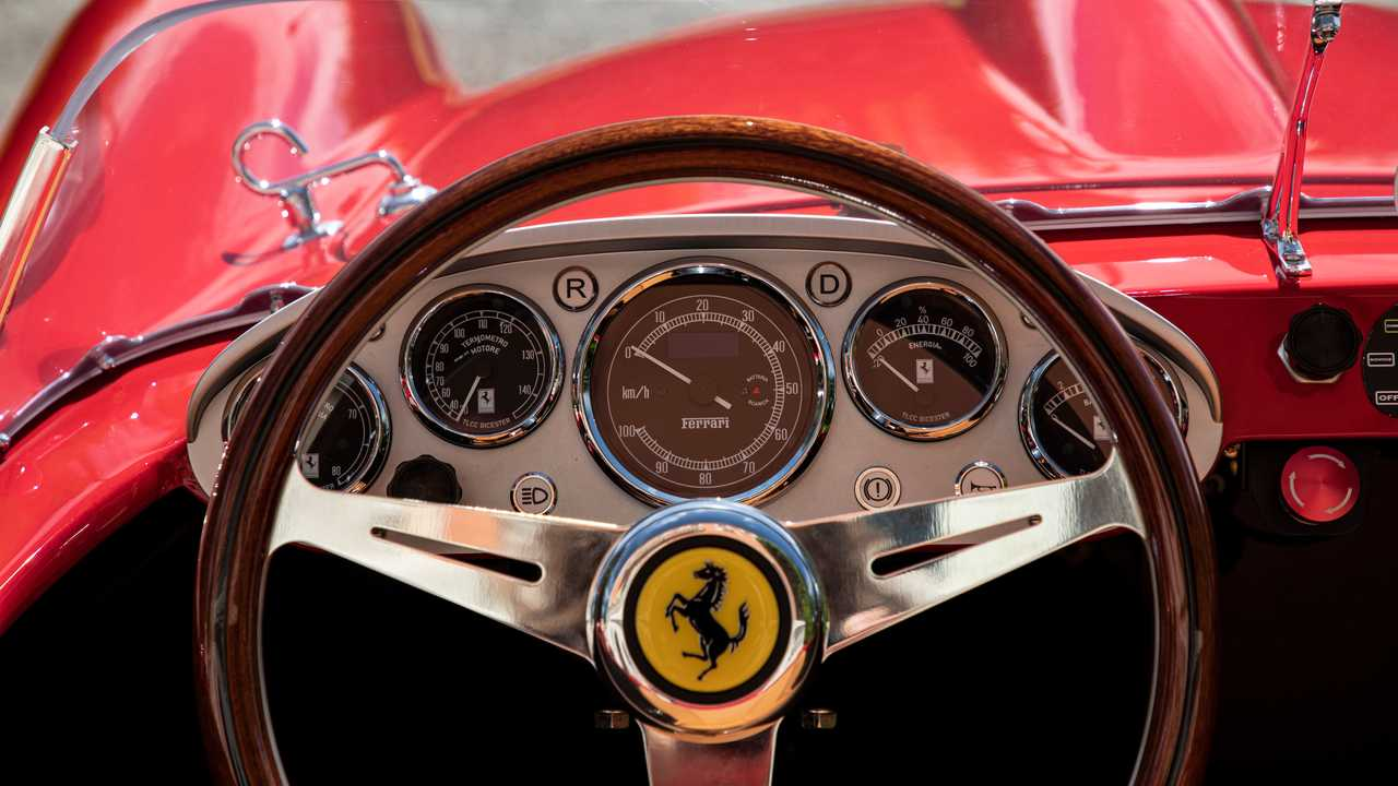 Ferrari Testa Rossa J Scale Replica Steering Wheel View