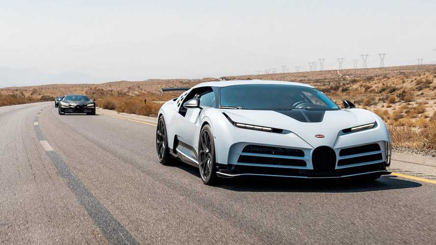 Испытания Bugatti Centodieci в американской пустыне