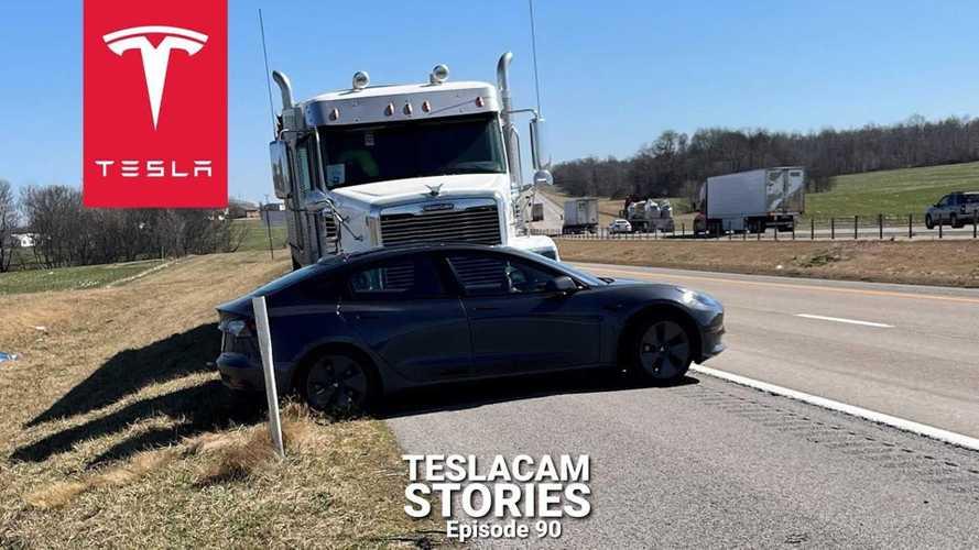 Semi Crashes Into Tesla Model 3 On Autopilot, Pushes It For Half Mile