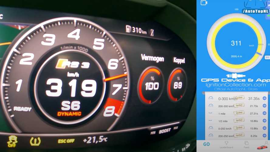 Modified Audi RS3 with devilish 666 bhp hits 193 mph on the Autobahn