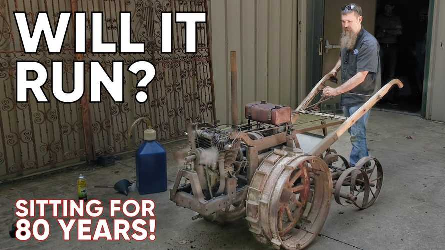 Will This Harley-Powered Tiller Start After Sitting For 80 Years?