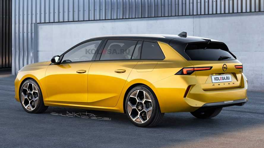 2022 Opel Astra Wagon Rendered While New Prototype Is Spied