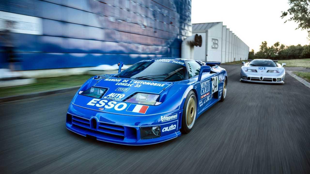 Bugatti EB110 SS LM e EB110 SC GTS-1, le versioni da pista
