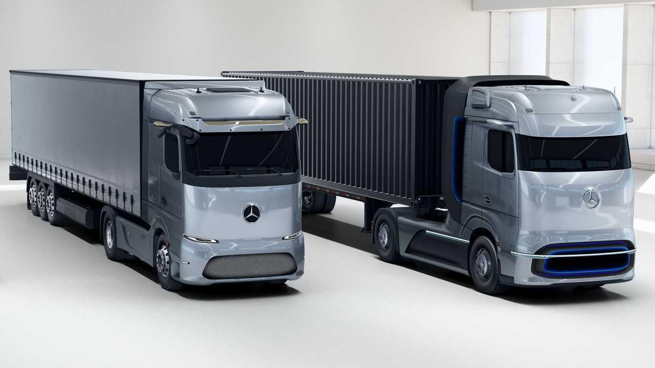 Mercedes-Benz eActros LongHaul and GenH2 Truck Concept