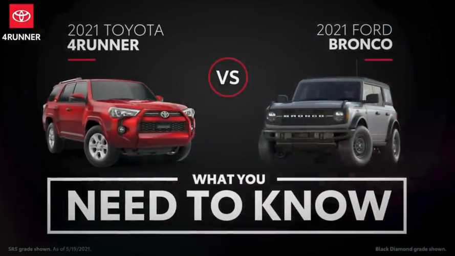 Toyota Video Accidentally Tells Us How Good Ford Bronco Is