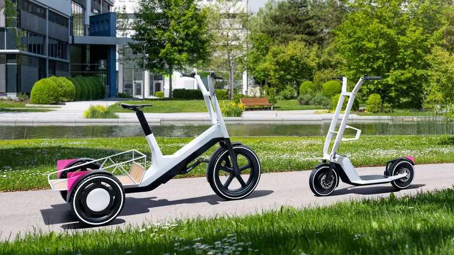 BMW stellt elektrifiziertes Lasten-Dreirad und E-Kickscooter vor