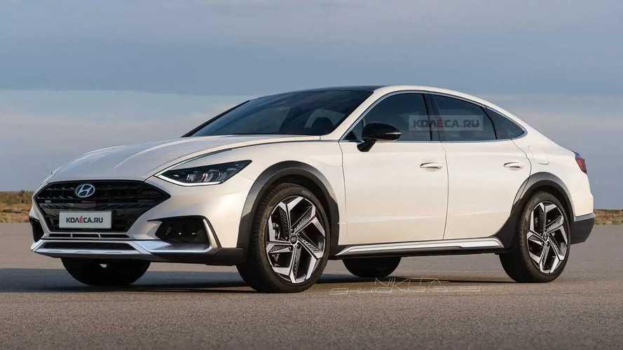High-Riding Hyundai Sonata Rendering Actually Looks Good