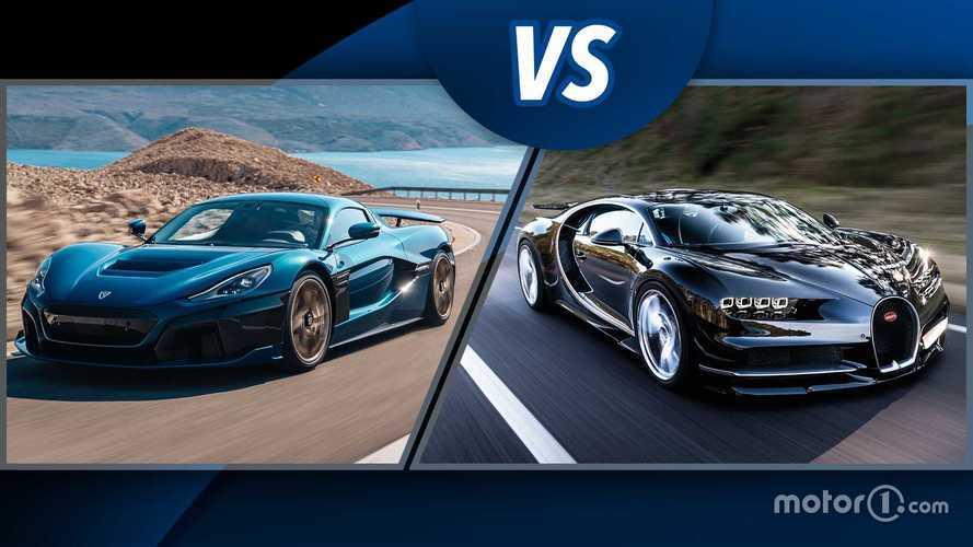 Rimac Nevera und Bugatti Chiron: Supersportler im Vergleich