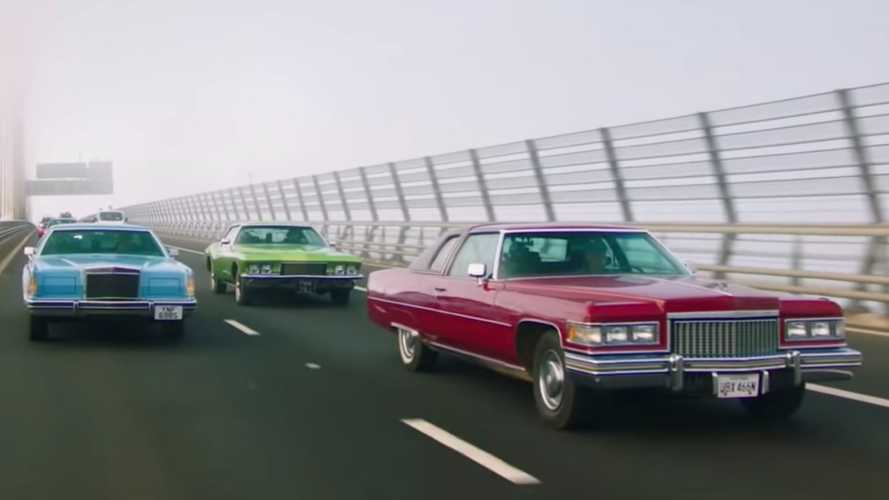 Watch trailer for Grand Tour guys driving American cars in Scotland