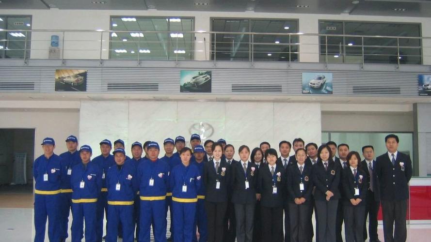 Staff at Toyota Beijing Huatong Toyota Motor Sales Co., Ltd.