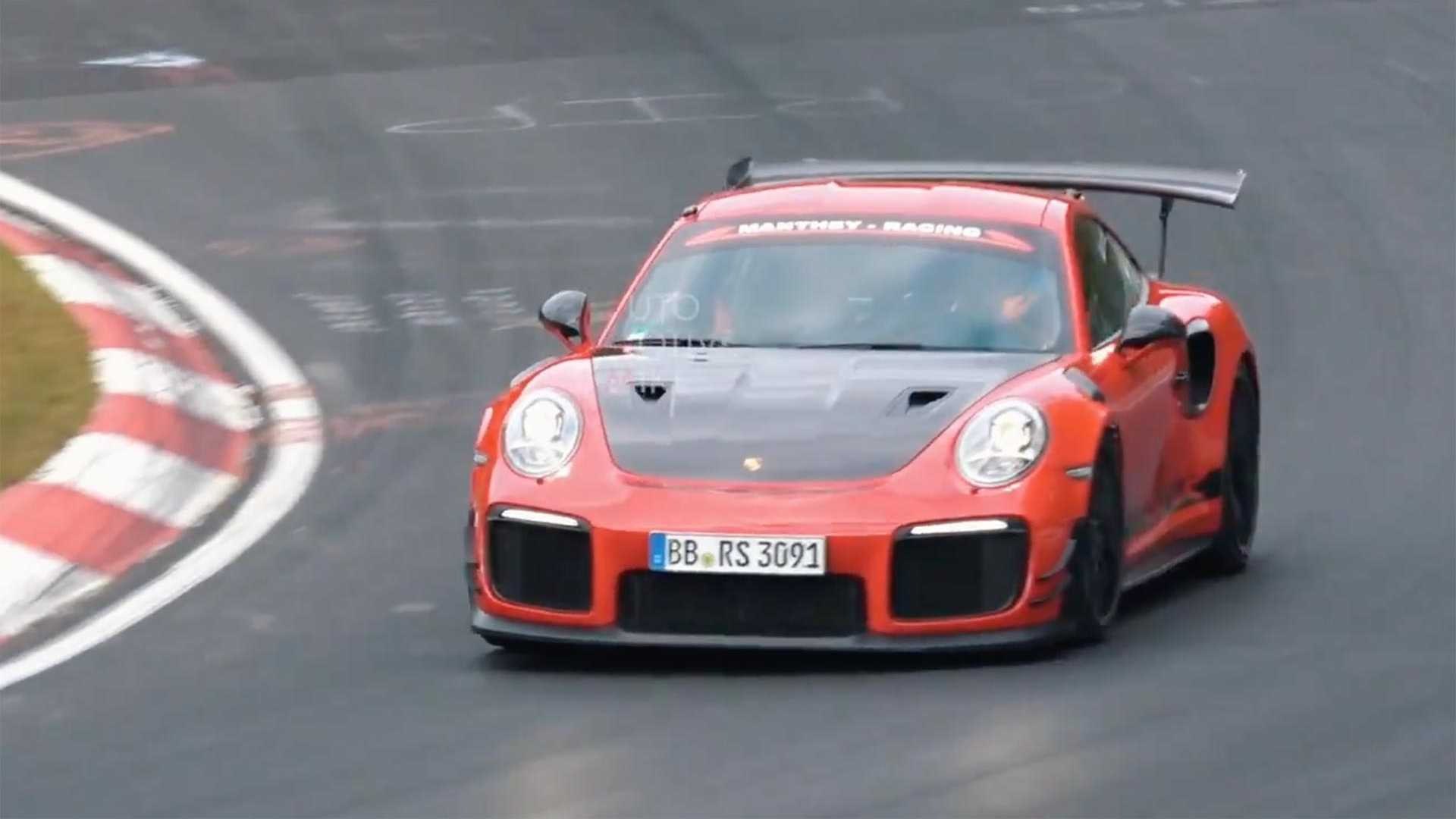 Porsche 911 Gt2 Rs Mr Spied During Return To Nurburgring