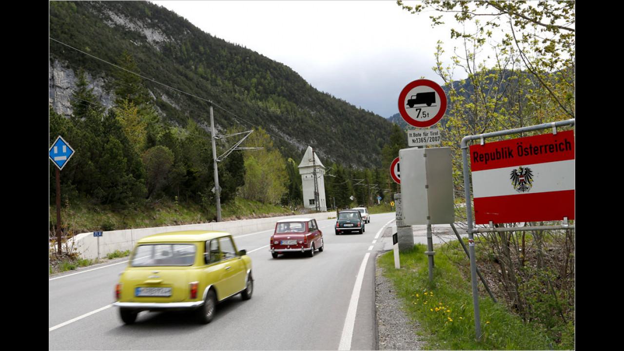 Die erste Etappe führt über Landstraßen von München bis nach Bozen in Südtirol. Hier geht es über die Grenze nach Österreich.